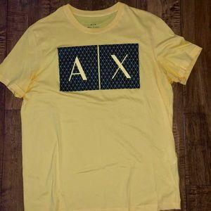 Yellow Armani Exchange Slim Fit T Shirt